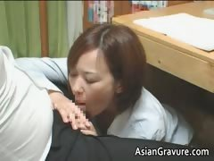 Hot asian home teacher with...